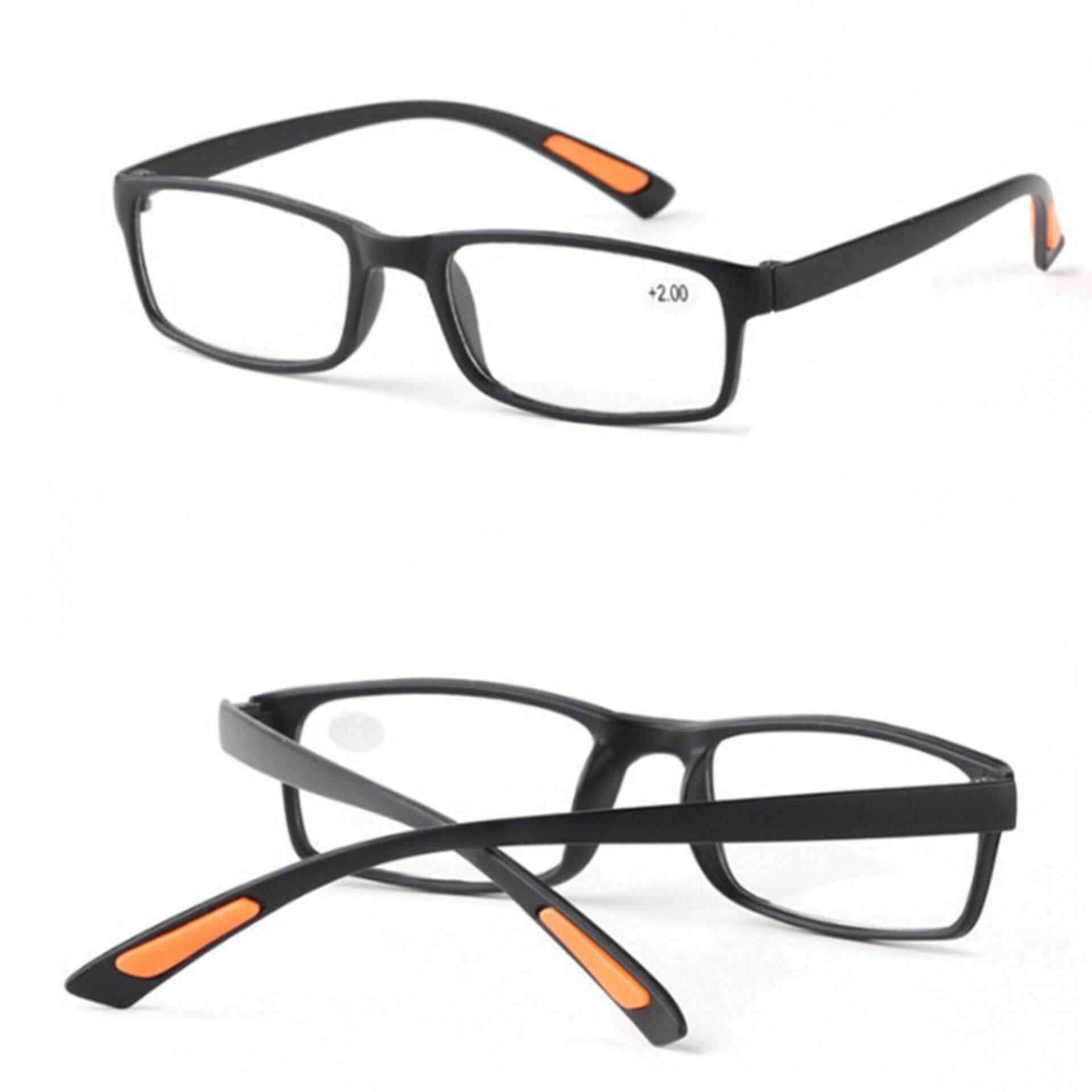 Retro Bingkai Persegi Tidak Ada Garis Kacamata Progresif Lensa Kacamata Baca Uniseks Hitam 350: 140 Mm-Intl
