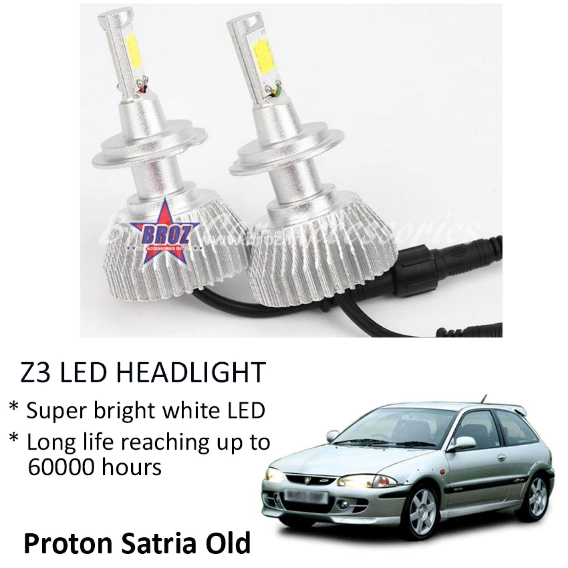 Proton Satria Old (Head Lamp) Z3 LED Light Car Headlight Auto Head light Lamp 6000k White Light