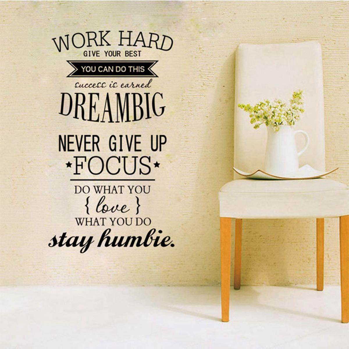 Features Wall Decals Quotes Work Hard Vinyl Wall Sticker Office ...