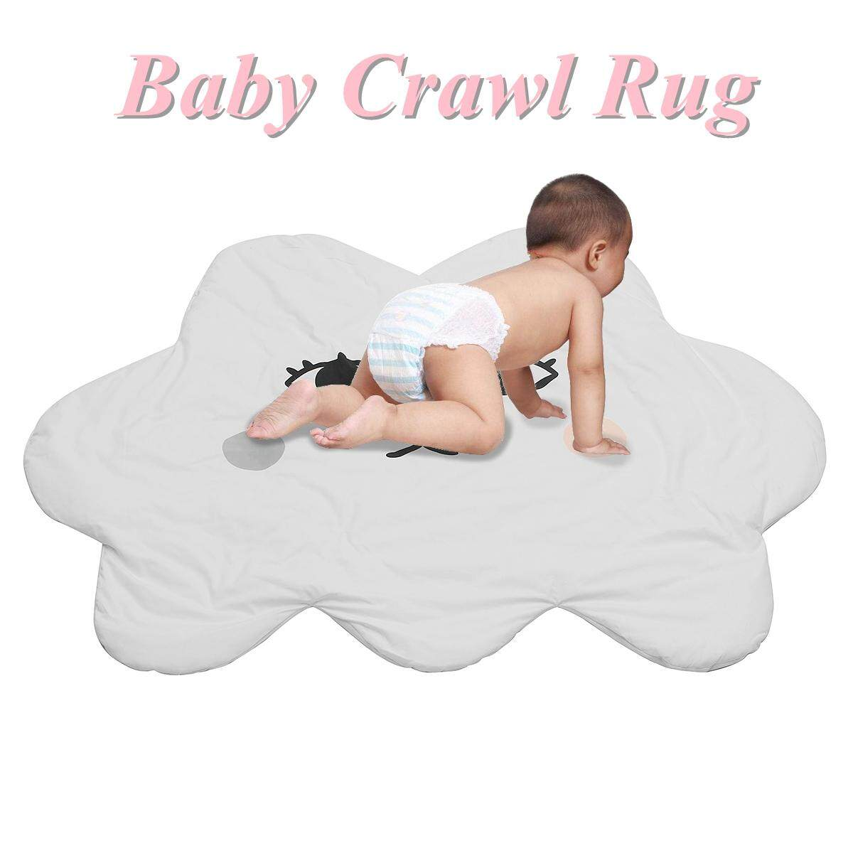 120 x 95CM Rectangle Baby Kids Play Crawl Mat Rug Activity Soft Creeping Blanket