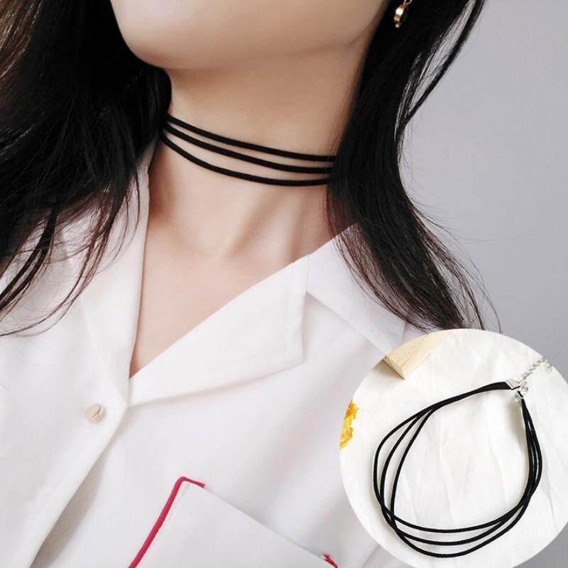 Senja Jepang Korea Selatan mahasiswa sederhana liontin choker kalung leher rantai klavikula rantai kerah