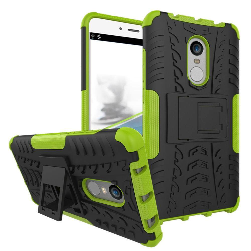Upaitou Baja Kasus untuk Xiaomi Redmi Note 4 Sulit TPU Kasar + PC Layar Ganda Protektif Case dengan Kickstand Penutup Belakang untuk Redmi Note 4 Hybrid potongan Pas Badan Casing Ponsel