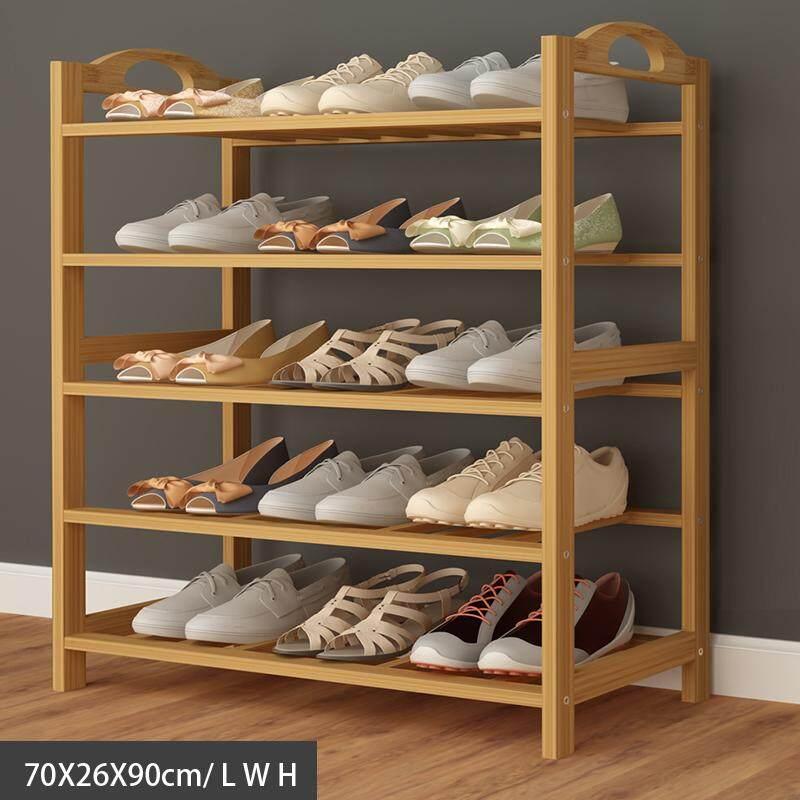 RuYiYu - 70 X 26 X 90cm/ 27.6 X 10.2 X 35.4 inch, Bamboo Shoe Rack 5 Tier Entryway Shoe Shelf Storage Organizer