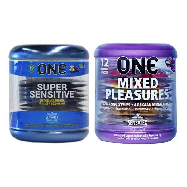 One Super Sensitive Condoms 12s + One Mixed Pleasures Condoms 12s