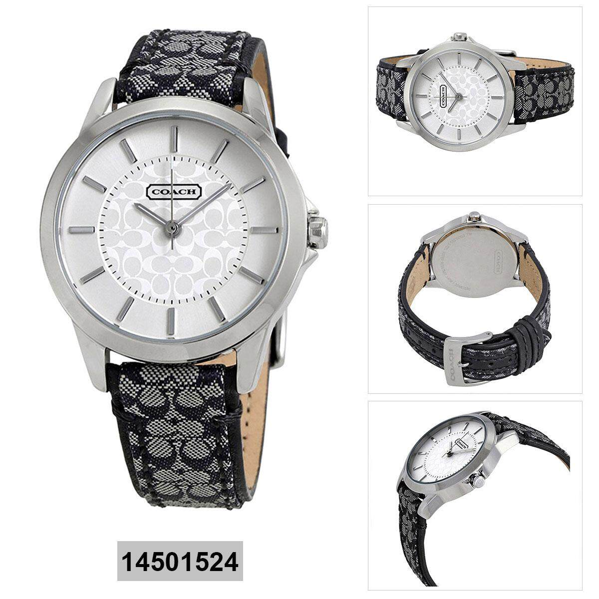 809b14a9d Coach Classic Signature Multicolored Stainless-Steel Case Leather Strap  Ladies 14501524
