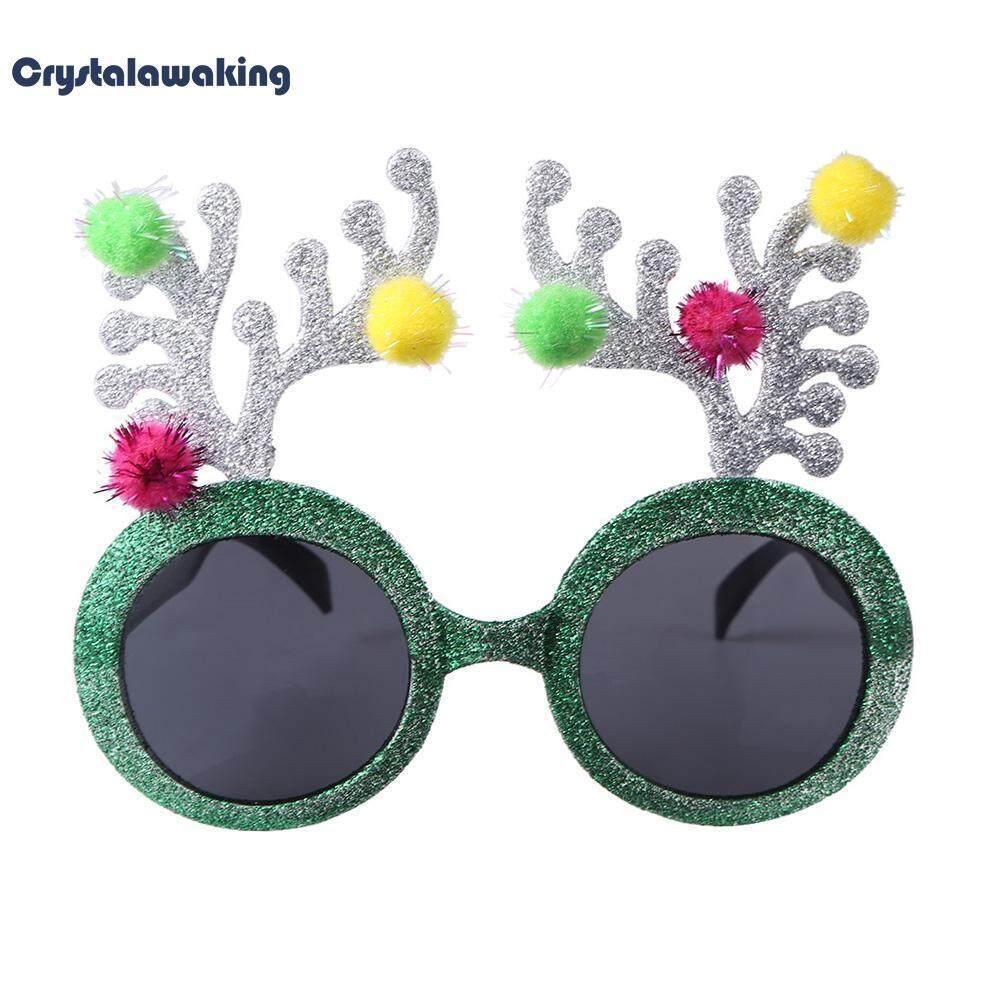 Novelty Glitter Fur Ball Deer Horn Design Sunglasses Glasses Wedding Party Decor By Crystalawaking.