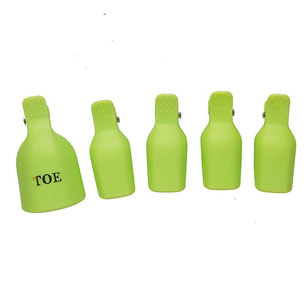 5Pcs Nail Remover Nail Polish Cap Clip Soak Off Manicure Clip Uv Gel Nail Tools (Green ) Philippines