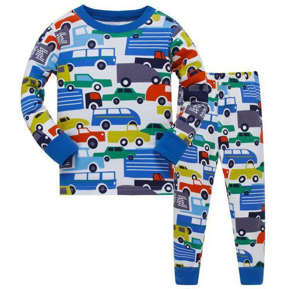 Kids Boy Pajamas Outfits Toddler Long Sleeve Pullover + Pants Homewear 2pcs Sets By Linyoungstore.