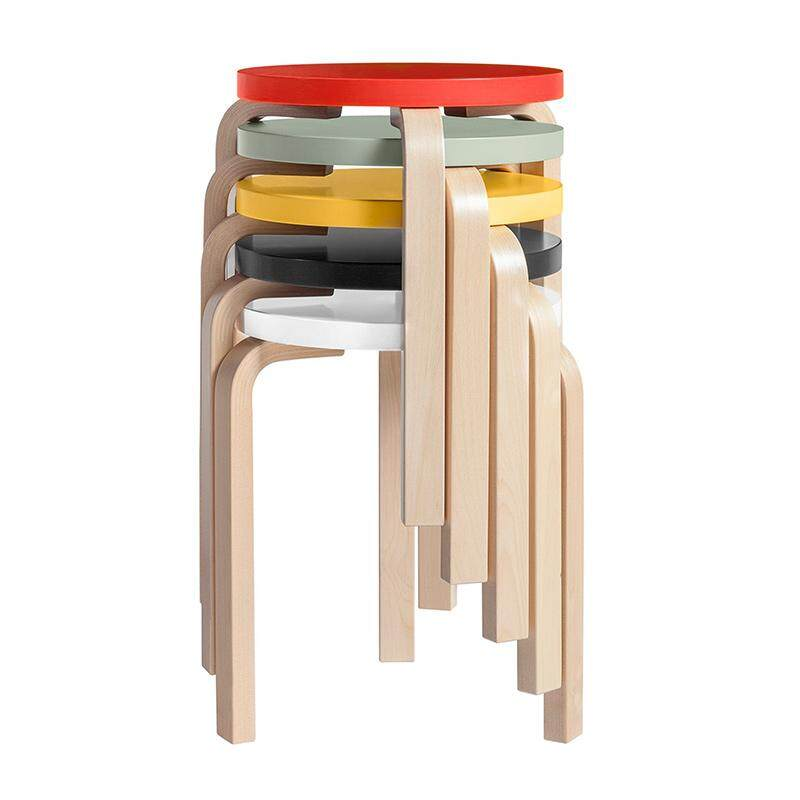 [Tmall Signature] Ai Be Ju Northern Europe Bentwood round Stool Stackable Northern Europe Simple Short Stool Household Living Room Colorful Stool
