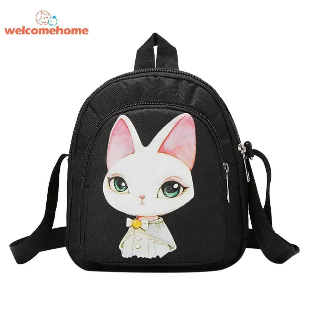 Cartoon Rabbit Print Women Girl Mini Shoulder Bags Nylon Messenger Handbags