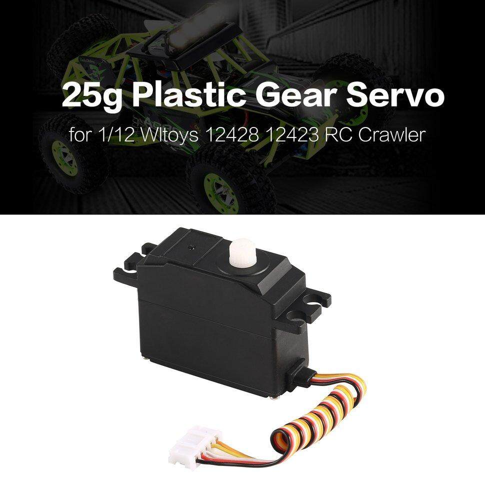 Ge 25g Plastic Gear Servo for 1/12 Wltoys 12428 12423 RC Car Truck Model