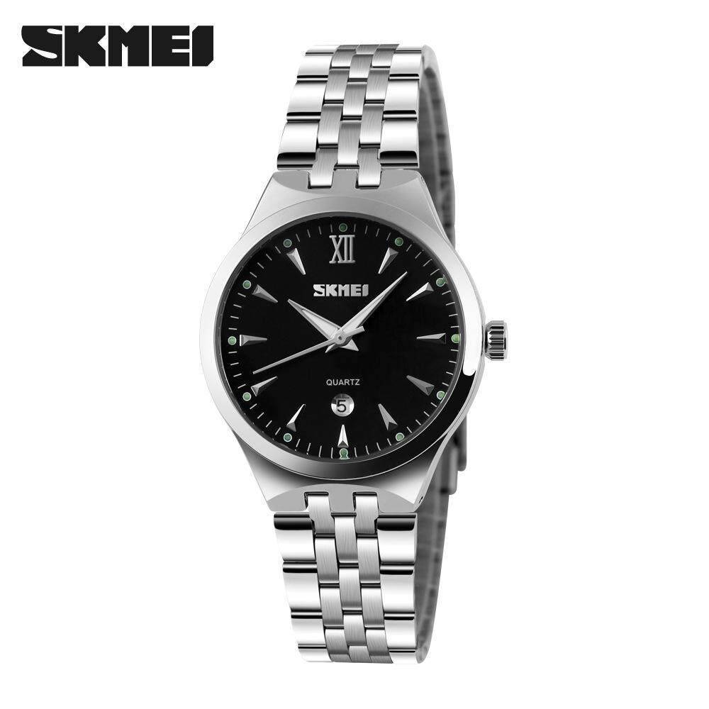 SKMEI Women's Quartz Watch Fashion Casual Watches Full Steel Waterproof Wristwatches