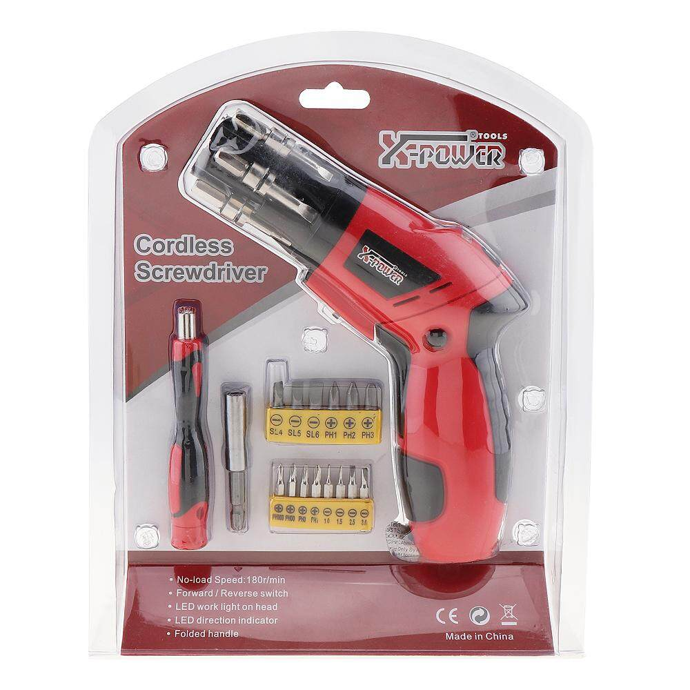 3.6V USB Plug Lithium Electric Screwdriver with LED Lighting and Two-way Rotating Head for Home Maintenance