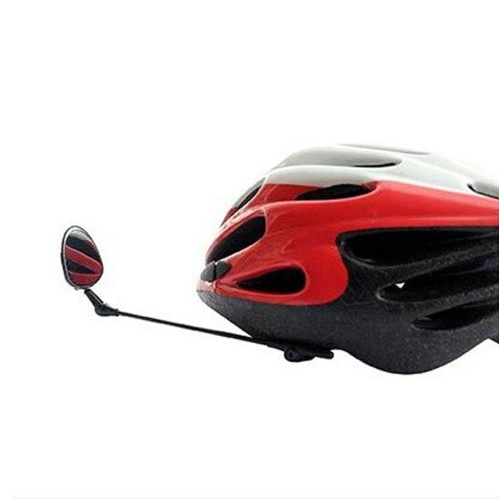 Berkendara Sepeda Mini Kaca Spion Helm Reflector Multi Angle Adjustable Tanpa Helm