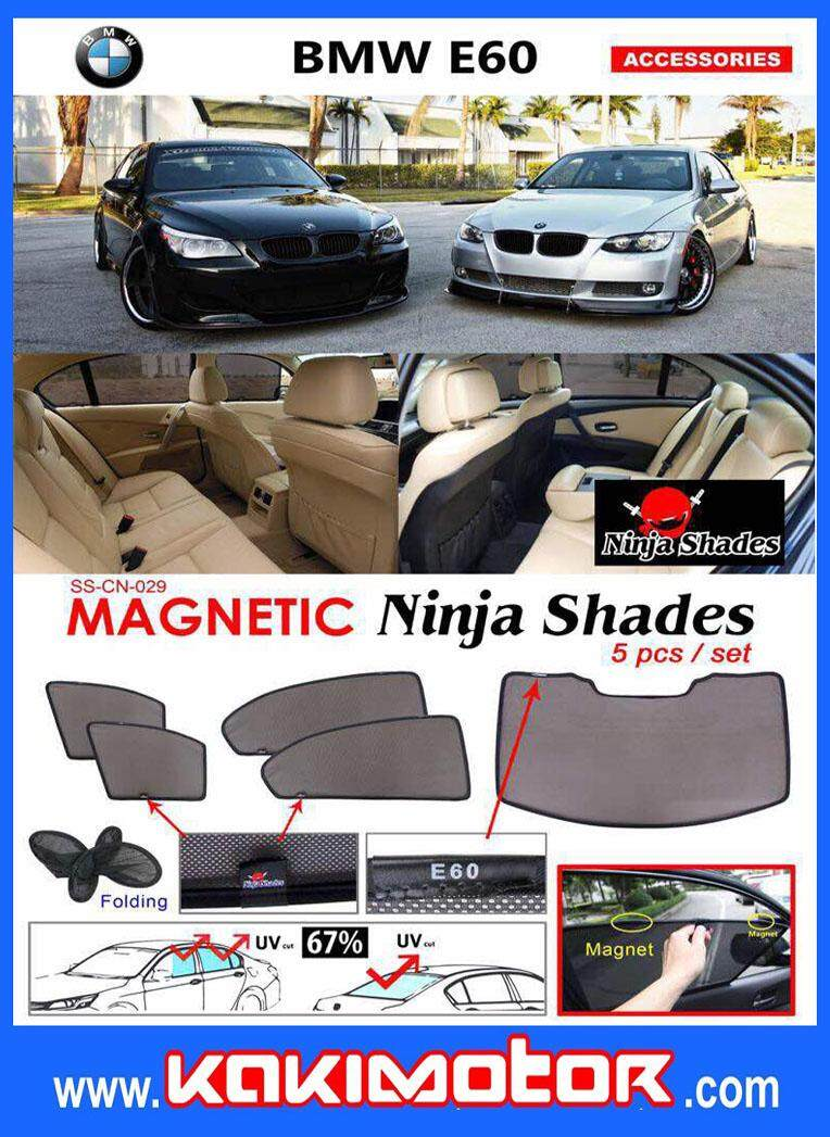 NINJA MAGNETIC SUNSHADE FOR BMW E60(5PCS)
