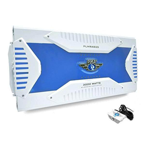 Pyle Hydra Marine Amplifier - Upgraded Elite Series 3000 Watt 8 Channel Bridgeable Amp Tri-Mode Configurable, Waterproof, MOSFET Power Supply, GAIN Level Controls and RCA Stereo Input (PLMRA820) / From USA