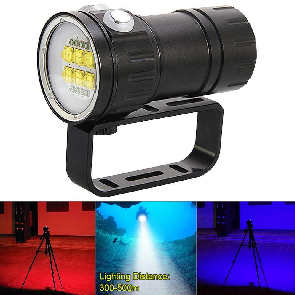 Qh14 300w 28800 Lumens Six 9090 White Xml2 Led Underwater 80m Scuba Diving Canister Light With