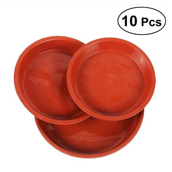 10pcs Plastic Flowerpot Drip Tray Plant Pot Saucer for Fleshiness Planter Garden Balcony - Type 280 (Red)