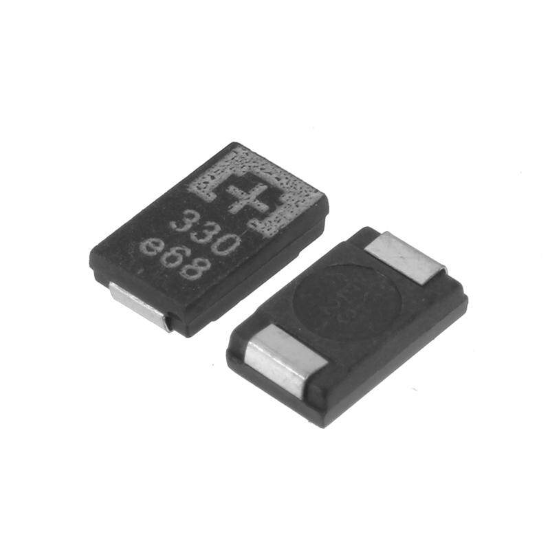 10 Pcs/lot SMD Tantalum Kapasitor Polimer 2R5TPE330M9 2.5 V 330 UF Poscap Kapasitansi Polimer-Internasional