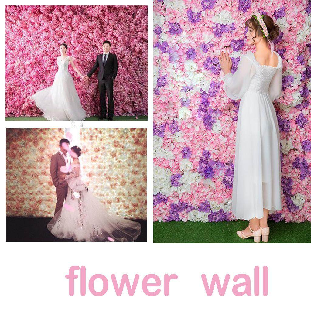 Guangquanstrade Artificial Flower Wall Panel Wedding Home Garden Venue Wall Hanging Backdrop By Guangquanstrade.