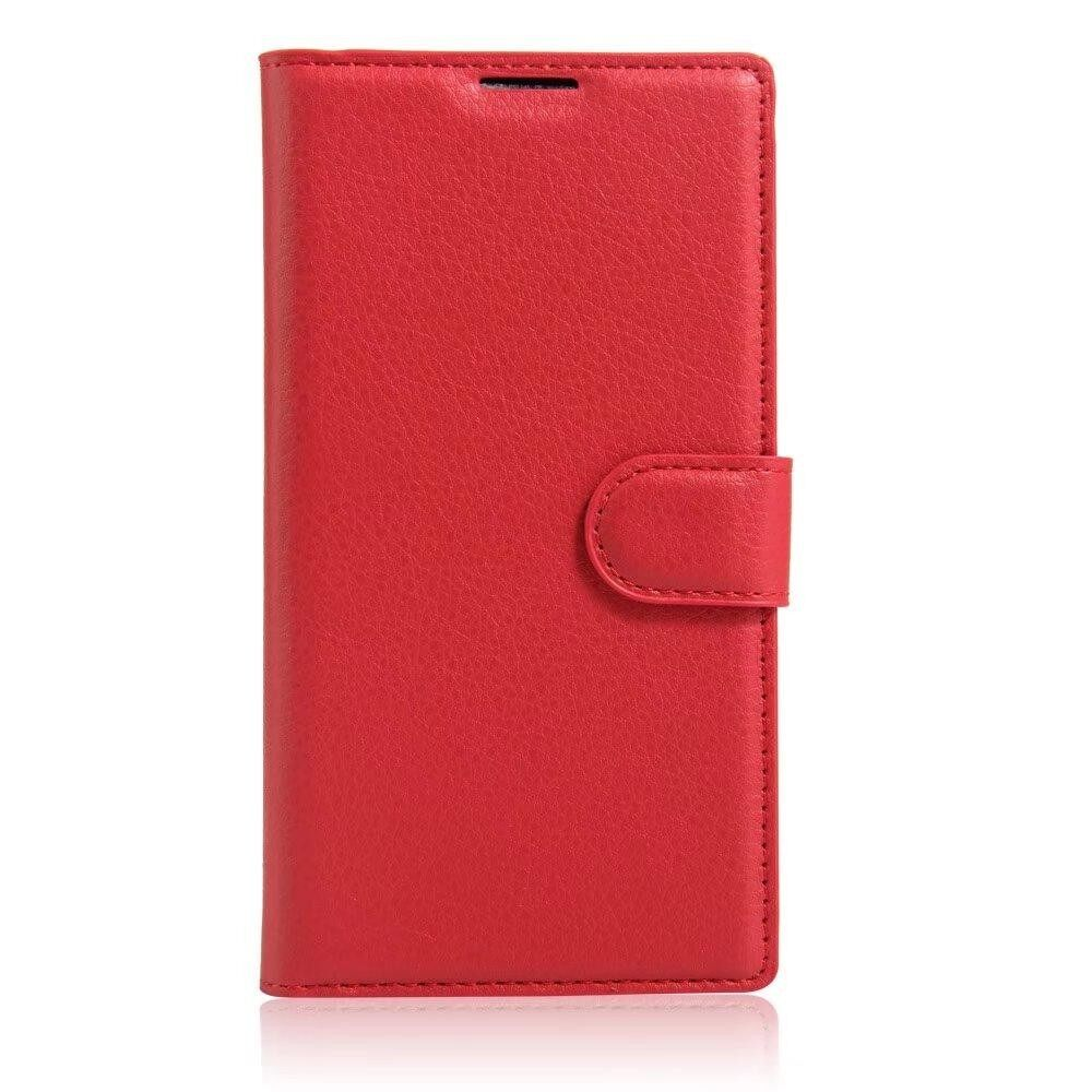 Leather Flip Cover Wallet Card Holder Case For Alcatel idol Ultra / OT6033 - intl