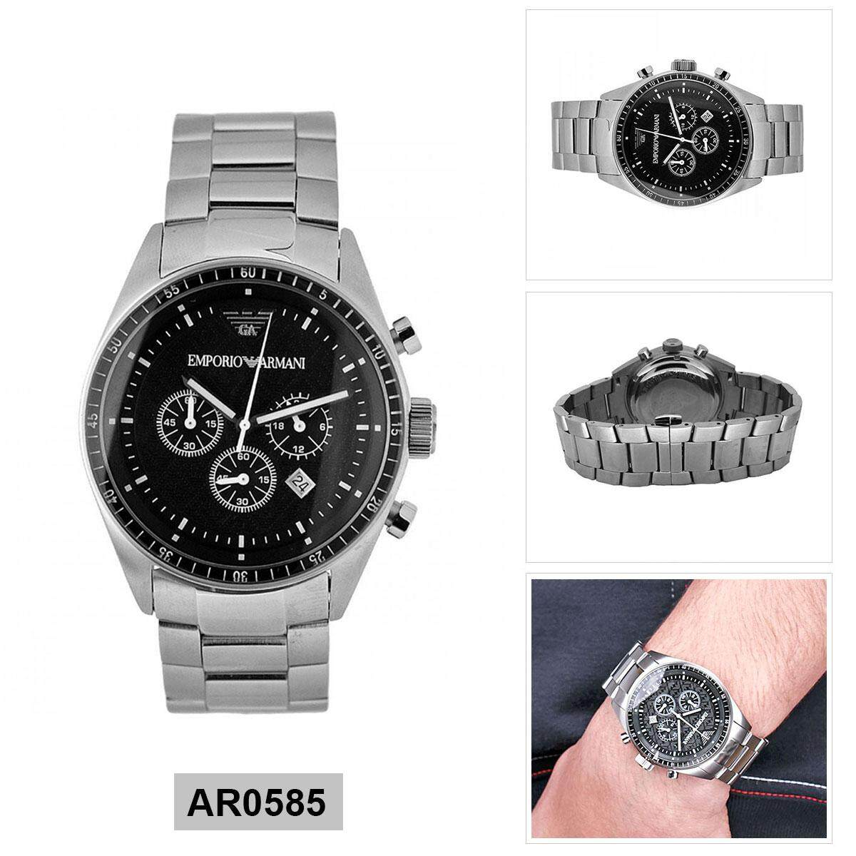 3509e7b2f3ac Armani Exchange Chronograph Silver Stainless-Steel Case Stainless-Steel  Bracelet Mens AR0585