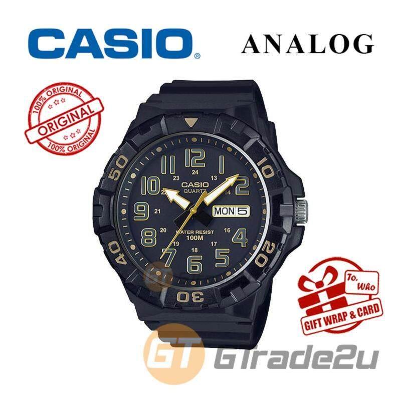 CASIO MEN MRW-210H-1A2V Analog Watch - Big Size Day Date Display Malaysia