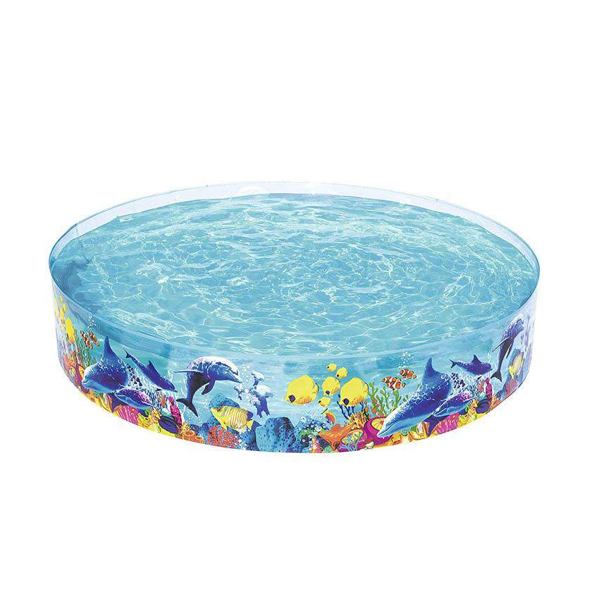 Bestway 55031 Fill 'N Fun Odyssey Pool Kids Rigid Wall Vinyl 2.44m x 46cm Garden Summer Swimming Paddling Pool