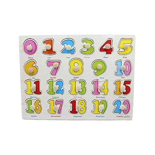 (Numbers 1 - 20)Kid Early educational toys baby hand grasp wooden puzzle toy alphabet and digit learning education child wood jigsaw toy