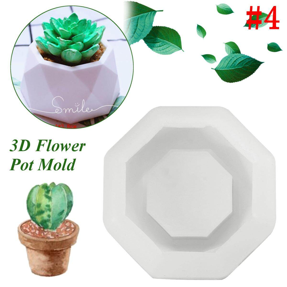 3D handmade silicone candle soap bottle mold for concrete silicone planter mold