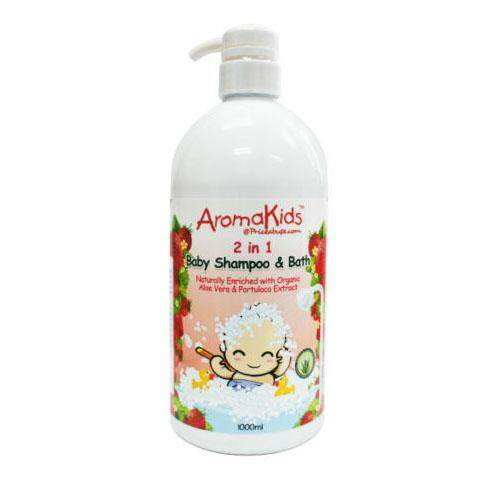 AROMAKIDS BABY 2 IN 1 (SHAMPOO & BATH) STRAWBERRY 1L