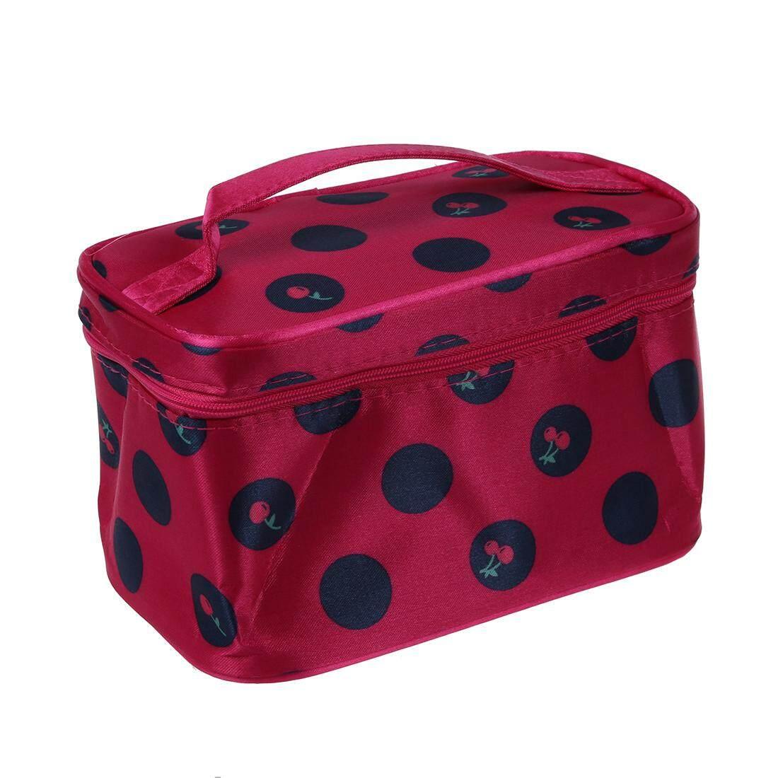 Mawar Merah Titik Besar Tas Makeup Kosmetik Kantong Tas Perlengkapan Mandi Tas Make-Up-Intl