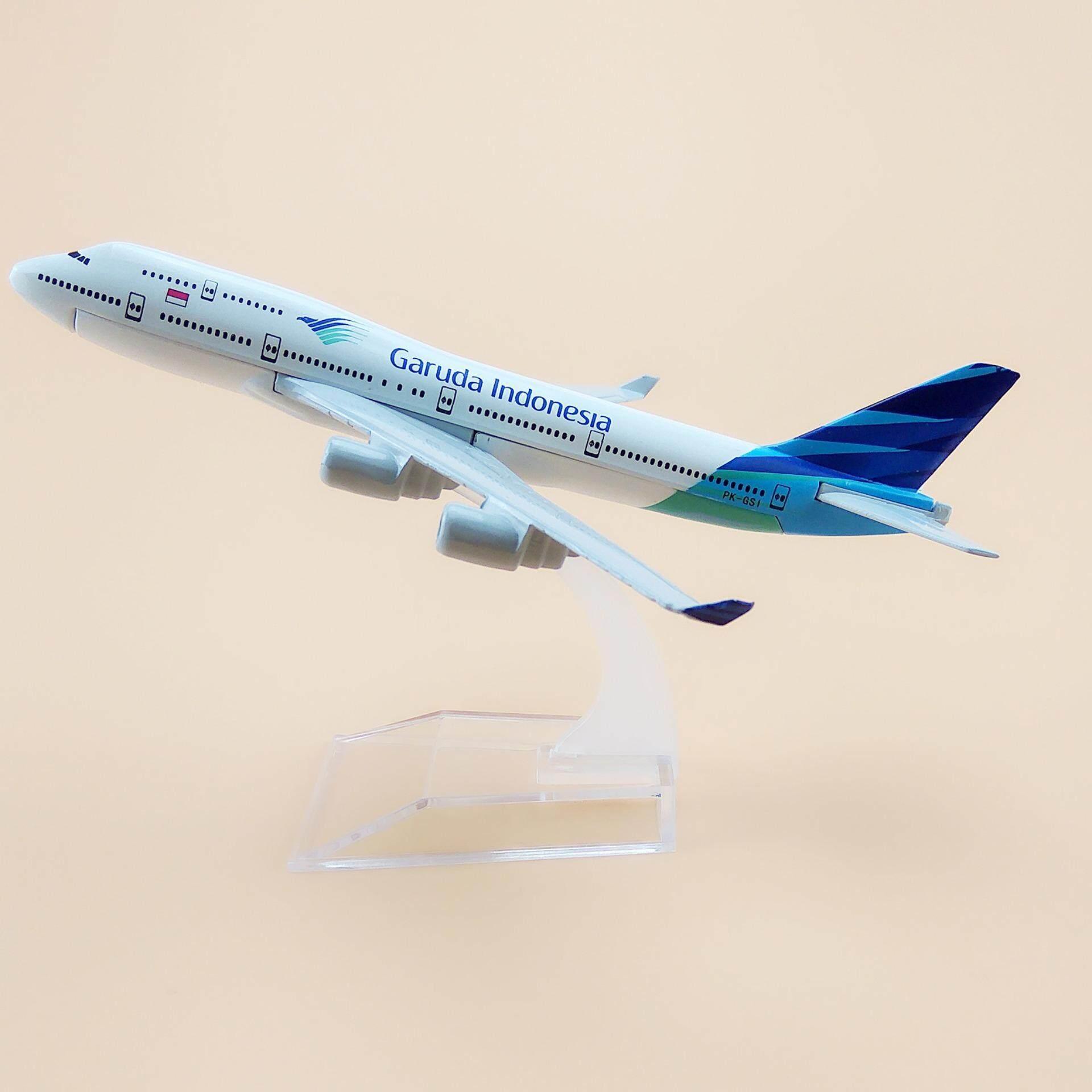 Air Garuda Indonesia Boeing 747 B747 Airlines Aircraft 16cm Metal Airplane Model Plane Kids Gift Toy