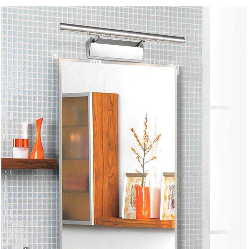 Highlight Indoor Stainless Steel Wall Lamps Bathroom Mirror Light Cabinet Lights with Two Optional Lighting Colors