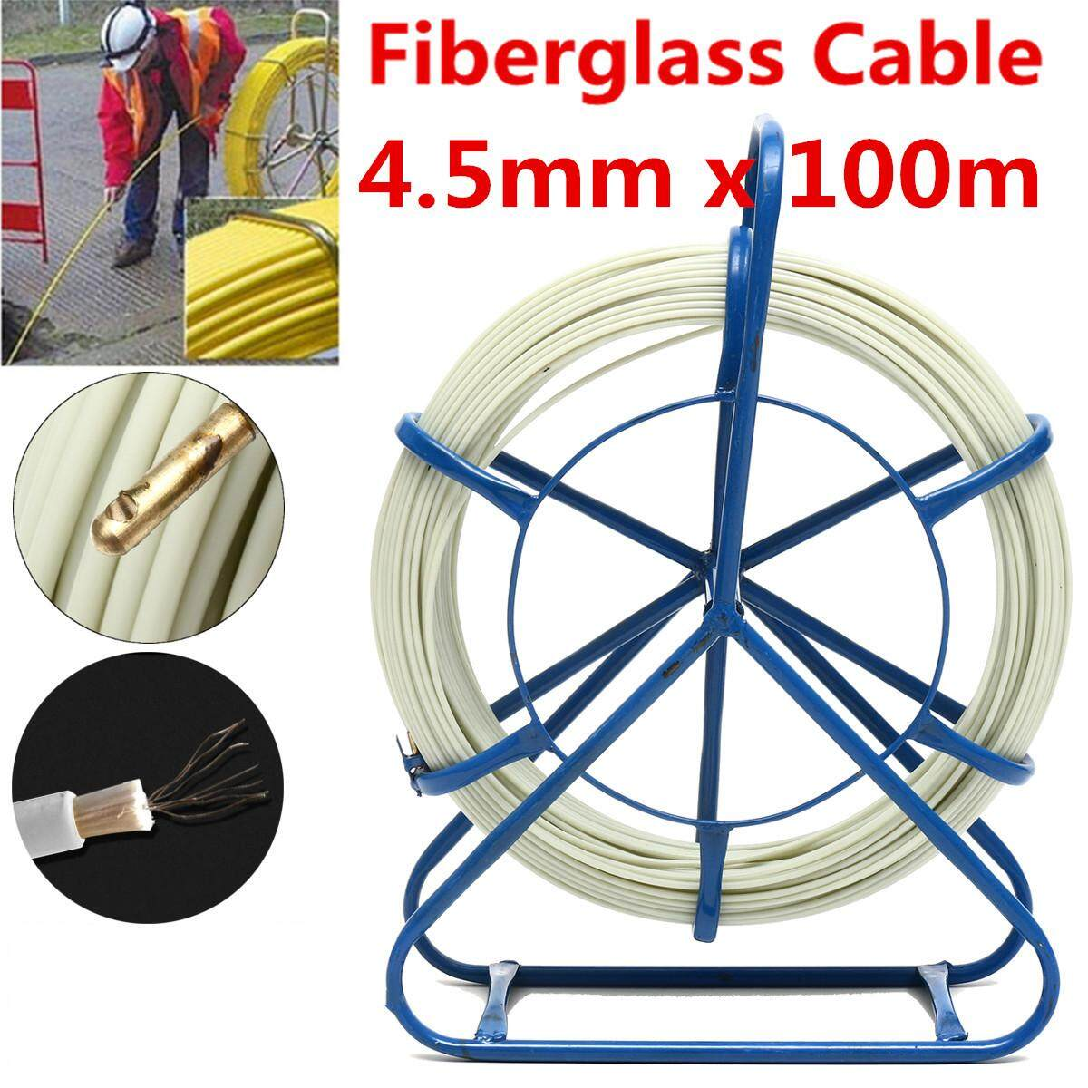 Features 10m Electrician Fish Tape Conduit Ducting Cable Puller Wiring Fiberglass Duct Rodder Running Rod Wire Push Pull 45mm X