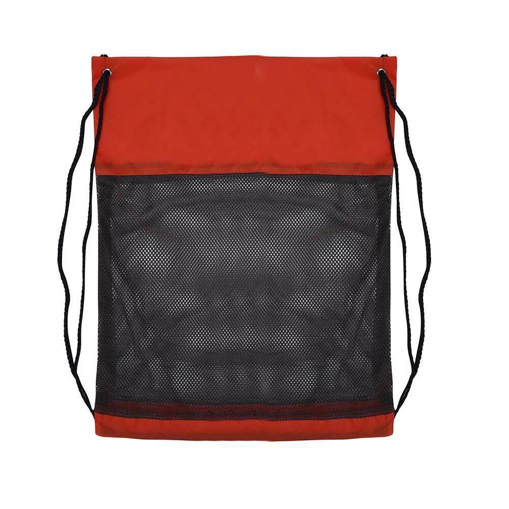 (Kohlershop)-Nilon Tas Serut Mudah Digunakan Olahraga Pantai Perjalanan Outdoor Netsack Ransel