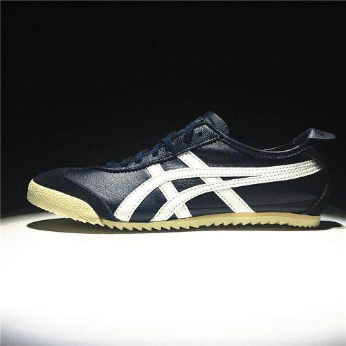 Running Shoes Authentic NYLON Sneakers FlyteFoam Non-Slip CUPSOLE Men's New Style Sports Shoes Hard-Wearing Asics-Onitsuka-Tiger Mexico 66 Deluxe Blue White EU:40 - intl