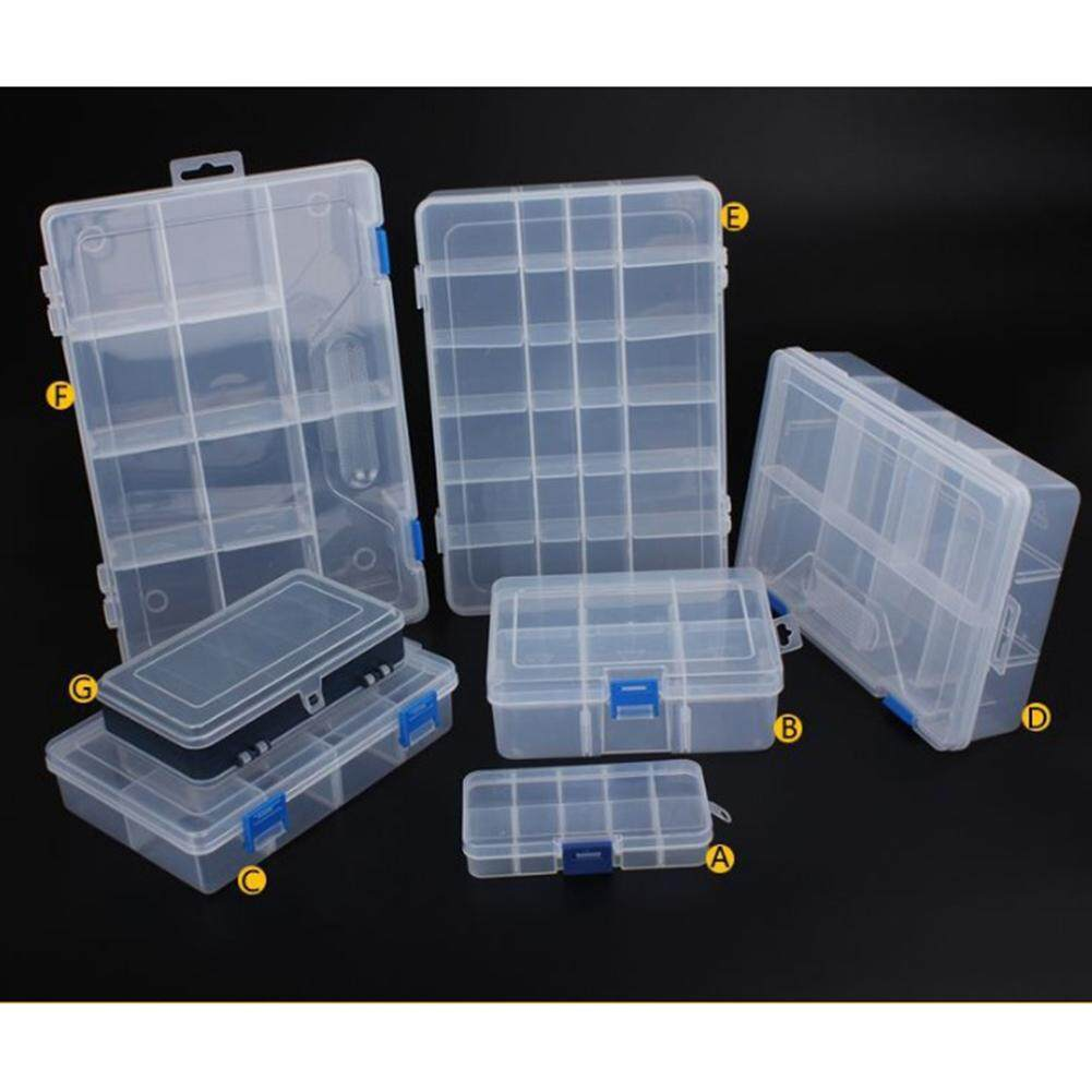 Household Vehicle-mounted Storage Box Plastic Container for Tool Electronic Components Specification:Type A 10 squares (small) -0.03kg Philippines