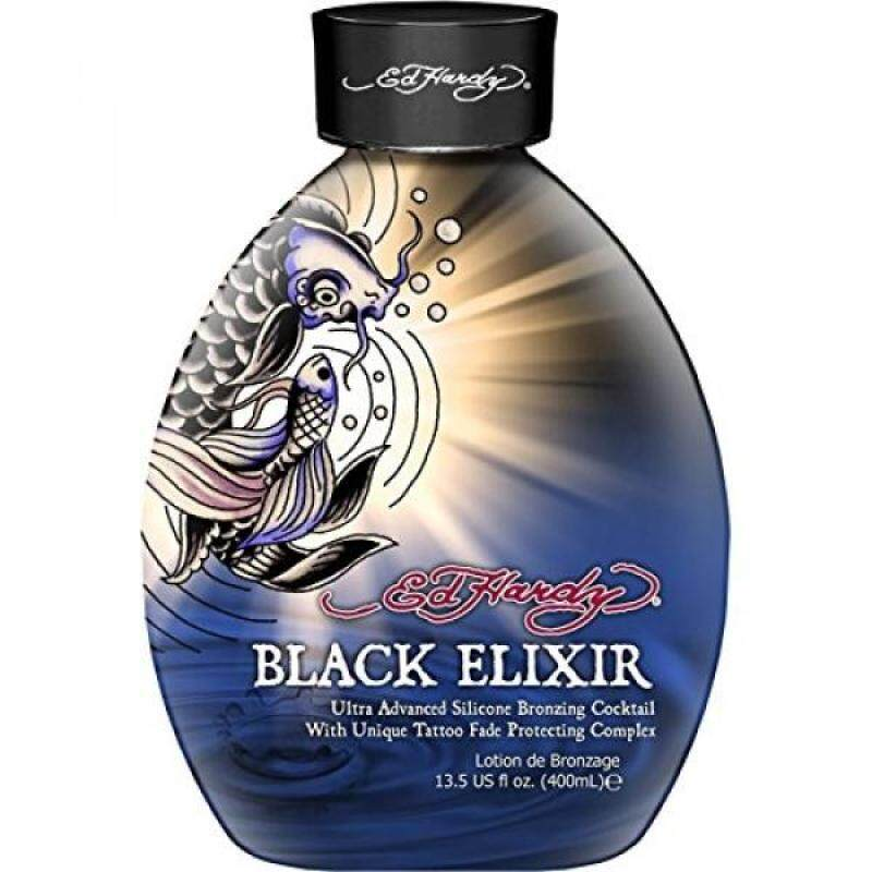 Buy Ed Hardy Elixir Silicone Bronzer Tattoo Fade Protection Tanning Lotion, 13.5 oz, Black - intl Singapore