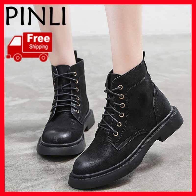 0205b61f4 PINLI  Free Shipping  Fashion zipper flat shoes ladies high heels thick  bottom PU leather