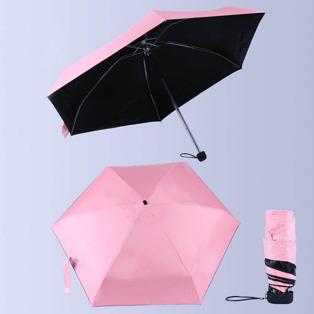 Sun Umbrella Durable Rain 6 Ribs Sunscreen Anti-UV Mini Fabala Unisex Super Powerful Outdoor Windproof 5 Folding