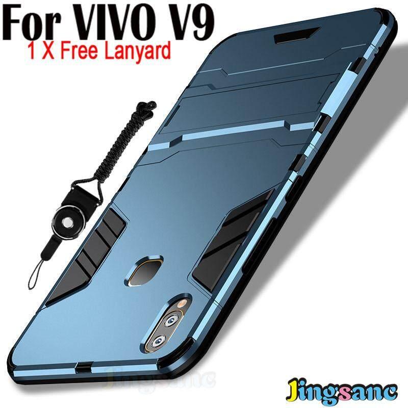 For VIVO V9 [Phone Case + Lanyard] Hybrid 2 in1 Case Hard Plastic +