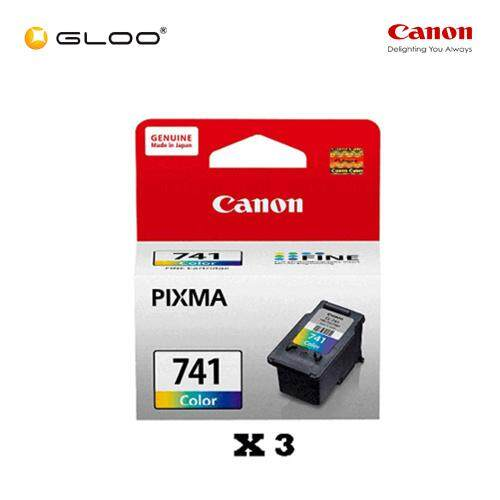 [Set of 3] Canon Fine 11 CL-741 Ink Cartridge - TriColor
