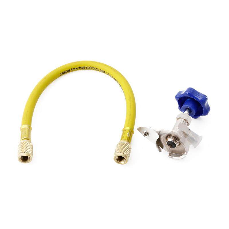 Refrigerant Recharge R12 R22 Hose Kit Tool 1/4sae Thread Can Tap - intl
