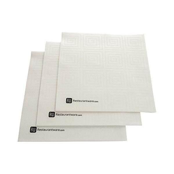 Cocktail Napkins Paper Napkins, Dinner Napkins - Greco White - Soft & Durable - 16