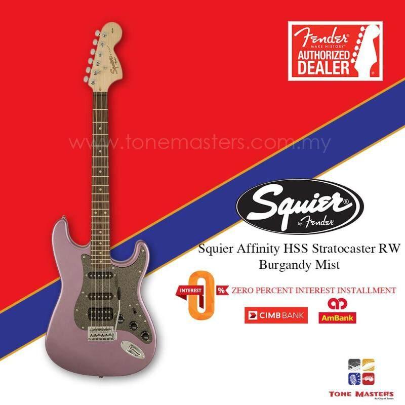 Squier Affinity HSS Strat RW Electric Guitar, Burgundy Mist Malaysia