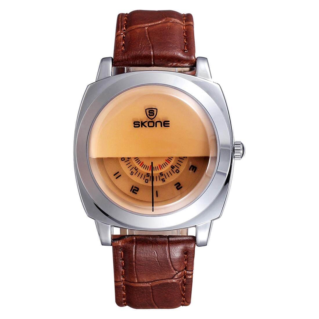 Skone Fashion Cool Men Watch 3 Dial 1 H/Min/S Hand Quartz Analog Wristwatch