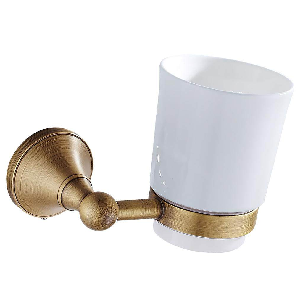 Deal Khuyến Mãi BolehDeals Antique Bathroom Wall Mounted Round Single Tumbler Cup Holder With Cups Set ...