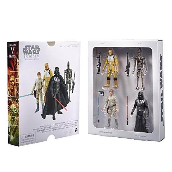 Bintang Wars Bintang Wars Digital Melepaskan Koleksi Peringatan Kotak Set-Episode 5 Kekaisaran Memukul Kembali-Luke Skywalker, darth Vader, Bossk, IG-88 (Paket Empat 3.75 Inch Aksi Angka)-Internasional
