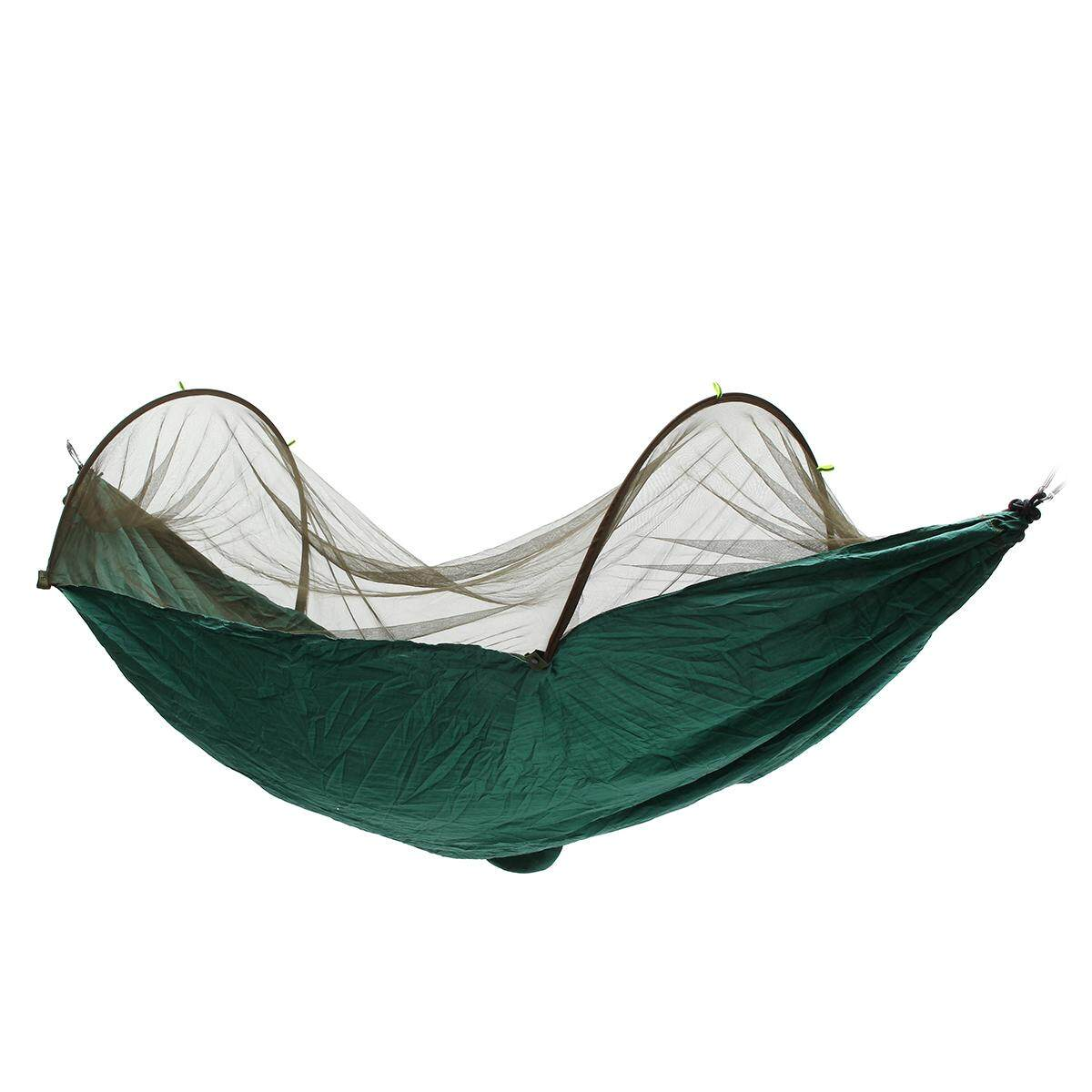 Double Person Travel Outdoor Camping Tent Hanging Hammock Bed & Mosquito Net Blackish Green By Glimmer.